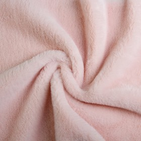 Мех искусственный, размер 40×50 см, цвет пудрово розовый Ош