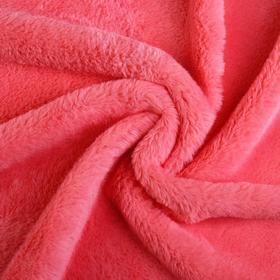 Мех искусственный, размер 40×50 см, цвет розовый Ош