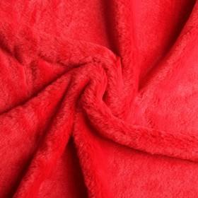Мех искусственный, размер 40×50 см, цвет красный Ош