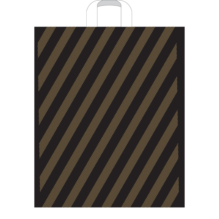 """Пакет """"Полоса"""", полиэтиленовый с петлевой ручкой, 45х45 см, 50 мкм"""