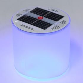Плавающий светильник ПВХ, надувной, солнечная батарея, 10LED, круглый, RGB Ош