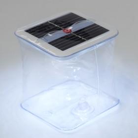 Плавающий светильник ПВХ, надувной, солнечная батарея, 10LED, квадратный, 6500К Ош