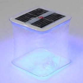 Плавающий светильник ПВХ, надувной, солнечная батарея, 10LED, квадратный, RGB Ош