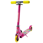 Самокат складной GRAFFITI, колёса PVC d=100 мм, цвет розовый