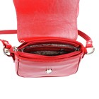 Сумка женская, наружный карман, 1 отдел, плечевой ремень, красный наплак - Фото 3