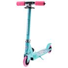 Самокат складной GRAFFITI, колёса PVC d=100 мм, цвет бирюзовый