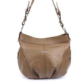 Сумка женская, наружный карман, отдел на молнии, коричневый флотер