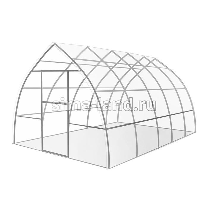 Каркас теплицы «Капелька», 4 × 3 × 2,1 м, оцинкованная сталь, профиль 20 × 20 мм, шаг дуг 65 см, 1 мм, без поликарбоната