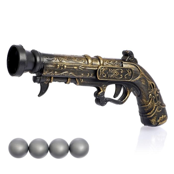 Пистолет Пиратский мушкет, стреляет шариками, в пакете