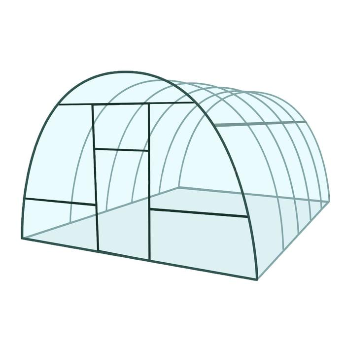 Каркас теплицы «Базовая», 4 × 3 × 2,1 м, металл, профиль 20 × 20 мм, шаг дуг 65 см, 1 мм, без поликарбоната