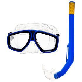 Набор для подводного плавания, 2 предмета: маска, трубка, в пакете, цвета МИКС Ош