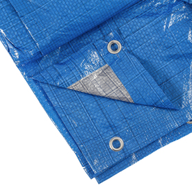 Тент защитный, 6 × 4 м, плотность 60 г/м², люверсы шаг 1 м, тарпаулин, УФ, голубой Ош