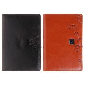 Органайзер, формат А5, на резинке, 100 листов, линия, обложка ПВХ, МИКС Ош