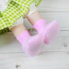 Носки для куклы, длина стопы: 6 см, цвет розовый