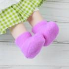 Носки для куклы, длина стопы: 6 см, цвет фиолетовый