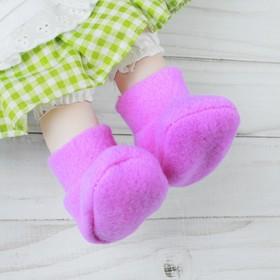 Носки для куклы, длина стопы: 7 см, цвет фиолетовый Ош