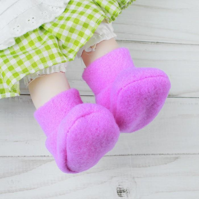 Носки для куклы, длина стопы 7 см, цвет фиолетовый