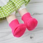 Носки для куклы, длина стопы 6 см, цвет фуксии