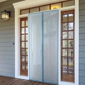 Сетка антимоскитная 100×210 см на магнитах, цвет синий Ош
