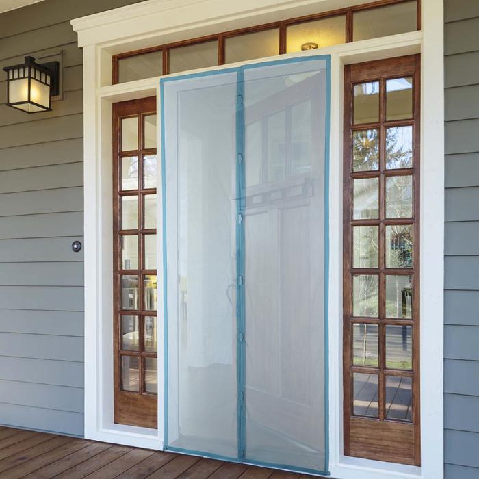 Сетка антимоскитная на магнитах, 90210 см, цвет синий
