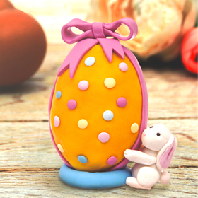 Набор для творчества. Декор яиц полимерной глиной «Зайчик с подарком» Ош