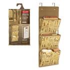 Органайзер подвесной на дверь, 3 жёстких кармана, 2 съёмных держателя, 78 x 33 см