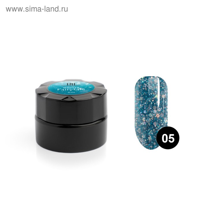 """Гель для дизайна ногтей TNL Winter fairytale №5 """"Мерцающие льдинки"""", 6 мл"""