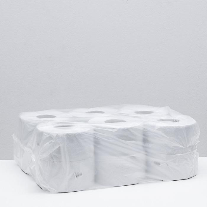 Туалетная бумага Helper на втулке с перфорацией и тиснением, белая, 150 м.