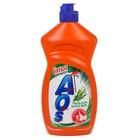 Средство для мытья посуды AOS Бальзам Алоэ Вера, 450 мл.