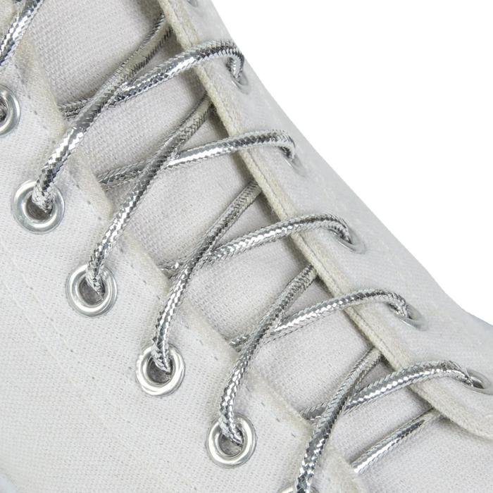 Шнурки для обуви, круглые, d = 4 мм, 120 см, пара, цвет серебряный