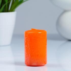 Свеча- цилиндр, парафиновая, оранжевая, 4×6 см Ош