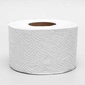 Туалетная бумага серая, для диспенсера, 1 слой, 130 метров