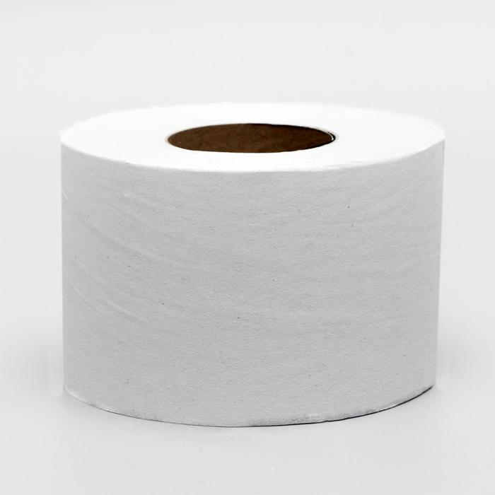Туалетная бумага однослойная серая, для диспенсера, 200 м