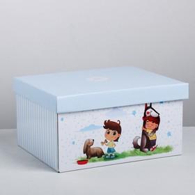 Складная коробка «Хорошему мальчику», 28 × 23 × 15 см