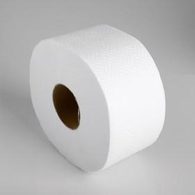 Туалетная бумага белая с перфорацией, для диспенсера, 2 слоя, 130 метров