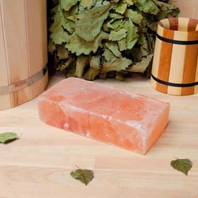 """Кирпич из гималайской соли, шлифованный, 20х10х5 см, """"Добропаровъ"""""""