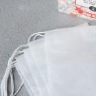 """Фильтр-пакеты для заваривания чая, с завязками, """"Для Чашки"""", 50 шт., 7 х 9 см - Фото 4"""