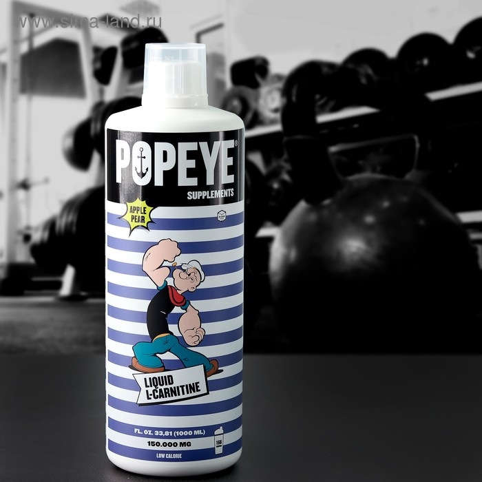 L-Карнитин POPEYE Supplenments L-Carnitine Concentrate, яблоко-груша, 1 л