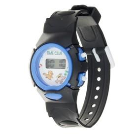 Часы наручные детские 'Джуниор', электронные, ремешок силикон черный, микс, l=20 см Ош
