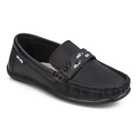 Мокасины детские, цвет чёрный, размер 34 Ош