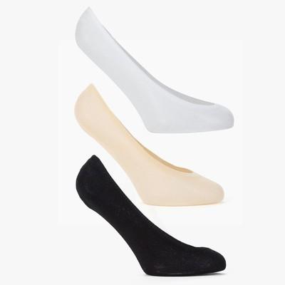 Набор носков-невидимок женских (3 пары) цвет classic (чёрный, белый, бежевый) размер 23-25