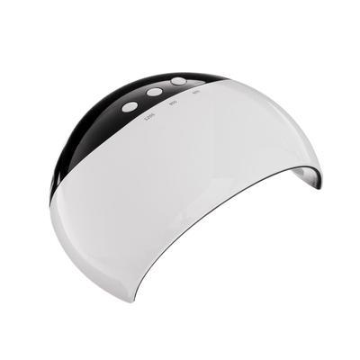 Лампа для гель-лака LuazON LUF-18, LED, 8 диодов, 24 Вт, таймер 3 режима, USB, белая
