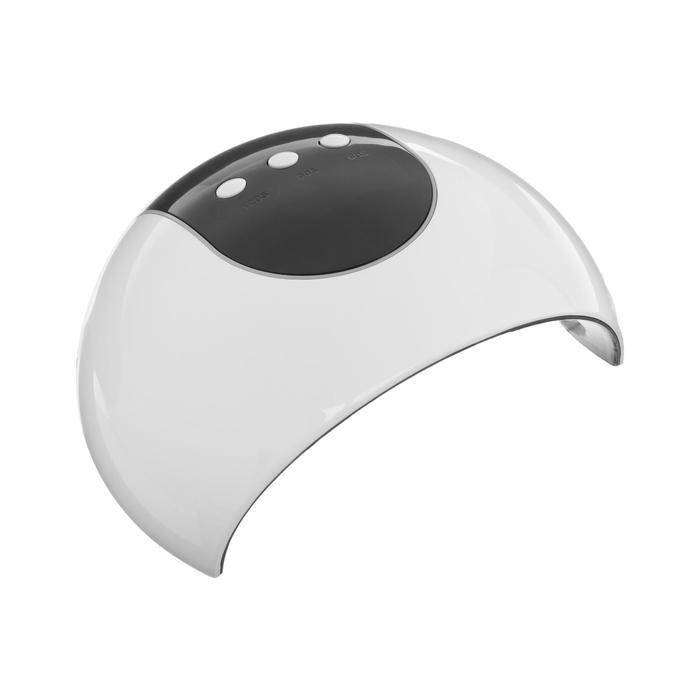 Лампа для гель-лака LuazON LUF-17, LED, 24 Вт, 8 диодов, таймер 60/90/120 сек, белая