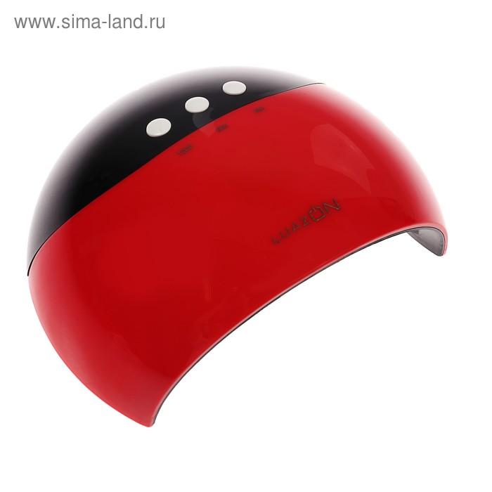 Лампа для гель-лака LuazON LUF-17, LED, 220 В, 8 диодов, таймер 3 режима, красная