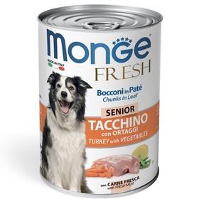 Влажный корм Monge Dog Fresh для пожилых собак, рулет из индейки с овощами, 400 г