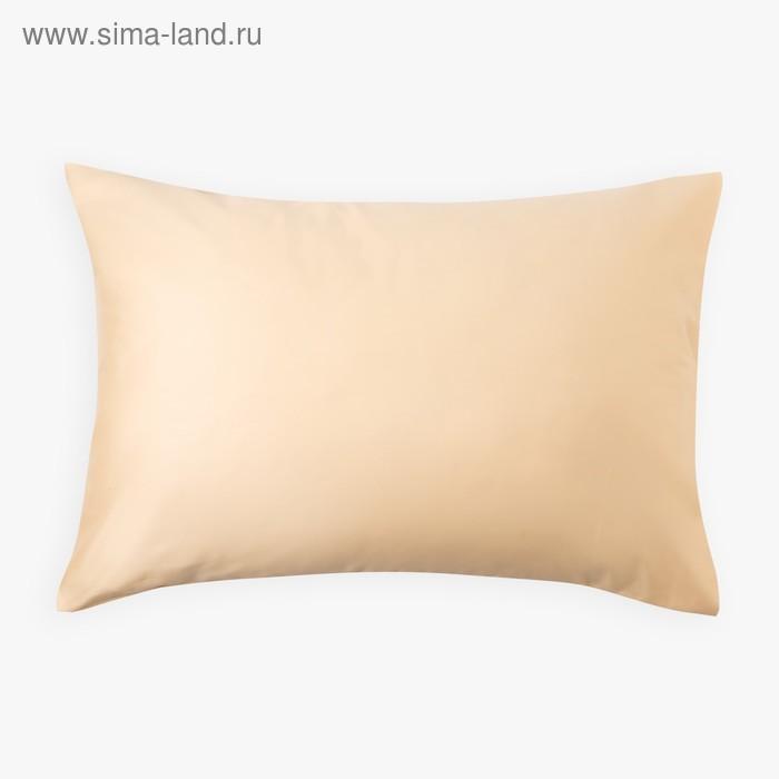 Наволочка «Этель» 50×70 см, цвет бежевый, 100% хлопок, мако-сатин, 125 г/м²