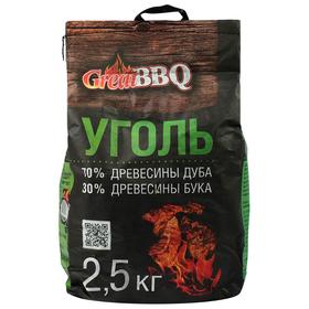 Уголь буковый GreatBBQ, 2,5 кг Ош