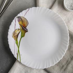 Тарелка обеденная Доляна «Дивные каллы», d=23 см
