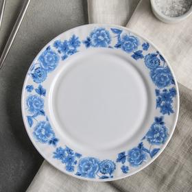Тарелка обеденная Доляна «Синий бриз», d=23 см