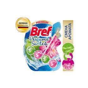 Блок для чистки и свежести унитаза Bref Perfume Switch «Яблоня и лотос», 50 г